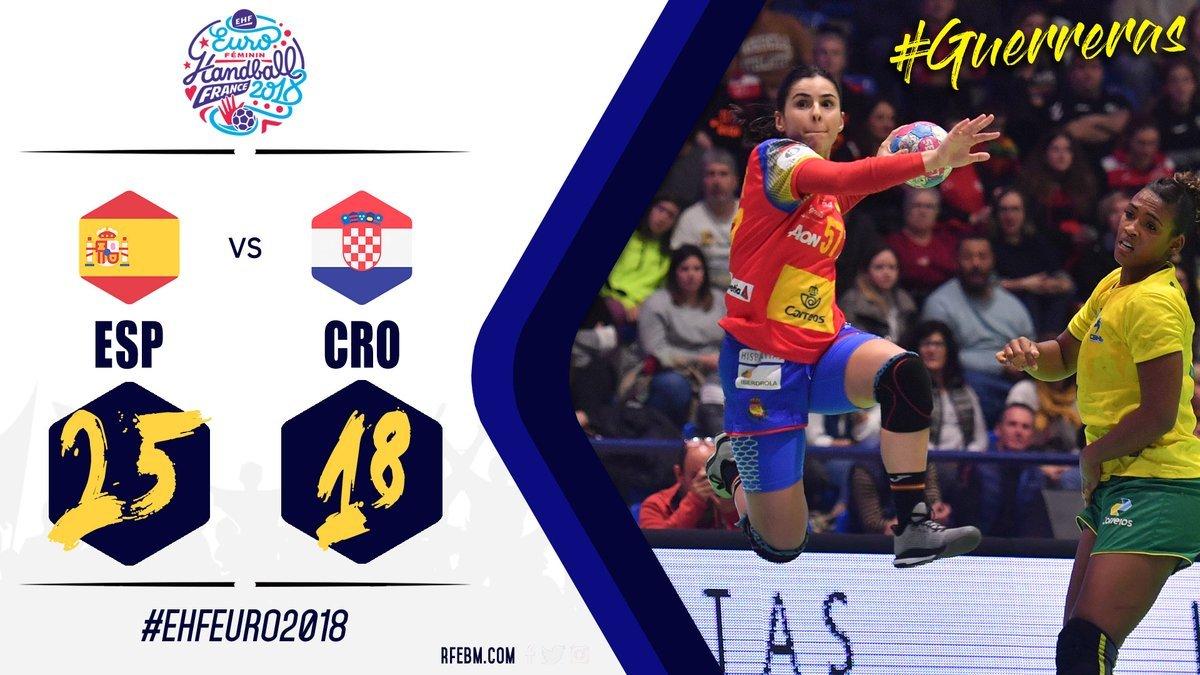 Calendario Europeo Balonmano 2020.Europeo Femenino Balonmano 2018 Espana Vs Croacia El Debut En El