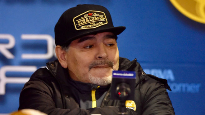 Diego Armando Maradona, en conferencia de prensa.