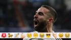 Carvajal celebra el 1-0