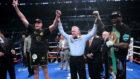 Tyson Fury y Deontay Wilder en el momento de la decisión.