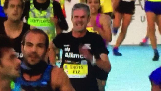 Martín Fiz, durante el 10K de Valencia