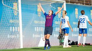 Alexia Putellas celebra un gol ante el Granadilla Egatesa.