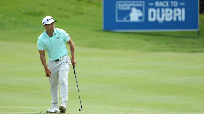 El estadounidense Kurt Kitayama, durante el torneo