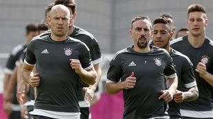Robben y Ribery.