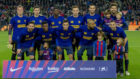 Alineación titular del Barcelona ante el Villarreal.