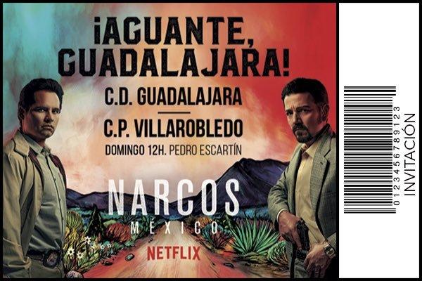 Campaña conjunta del CD Guadalajara con Netflix para promocionar...