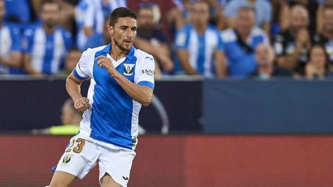 Omar Ramos, en un partido con el Leganés.