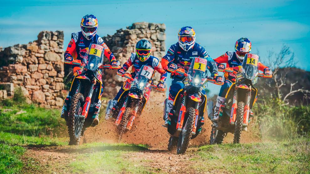 El equipo KTM que disputará el Dakar 2019.