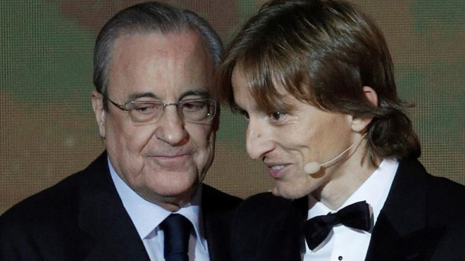 Florentino Perez and Luka Modric