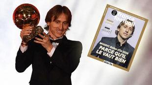 Modric, con el Balón de Oro.