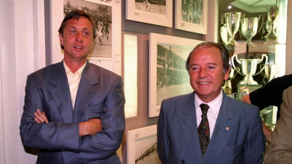 Cruyff y Núñez en el año 2000.