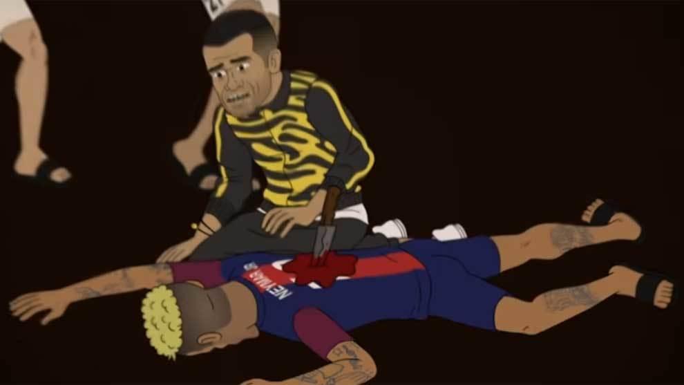 Asesinan a Neymar con una puñalada en la espalda en el capítulo ocho...
