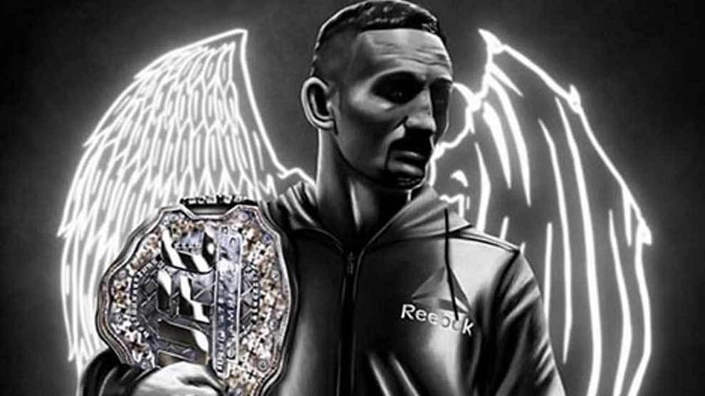 Max Blessed Holloway, campeón del peso pluma de la UFC, vuelve a...