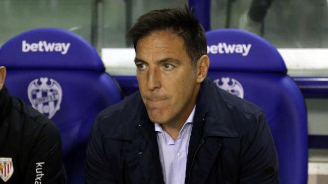 Eduardo Berizzo, durante el Levante - Athletic de la jornada 14 de...