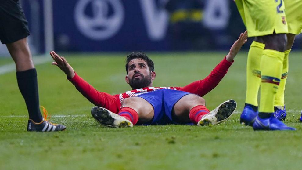 Diego Costa, durante el partido ante el Barcelona.