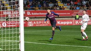 Gol de Lenglet en el Cultural Leonesa - Barcelona