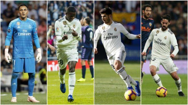 Keylor Navas, Vinicius Jr., Marco Asensio and Isco Alarcon
