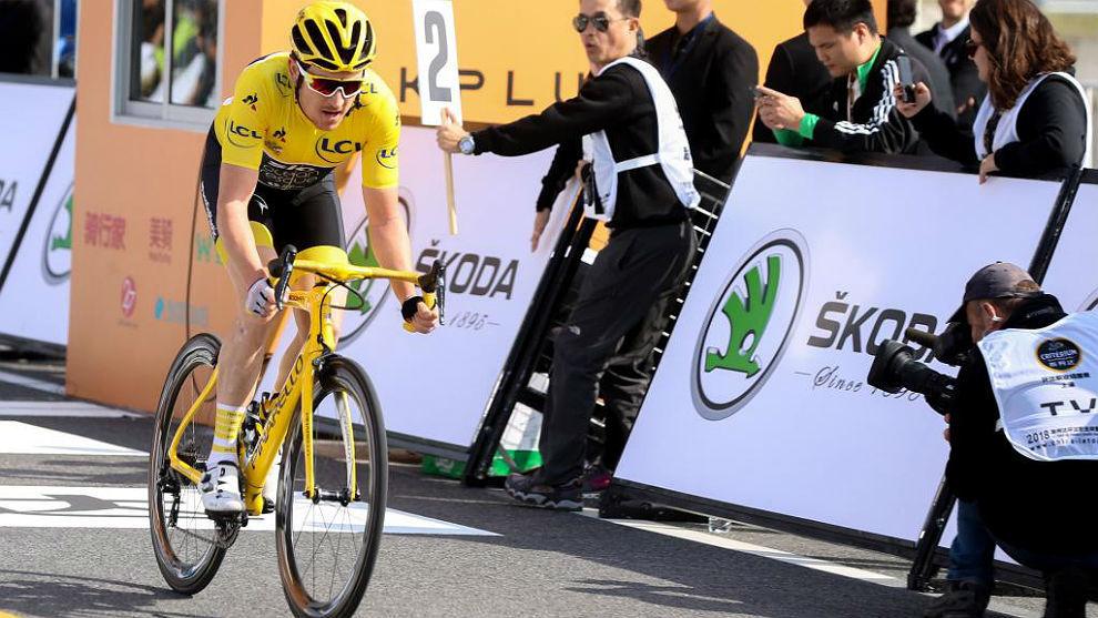 Geraint Thomas, en el reciente critérium de Shanghái.