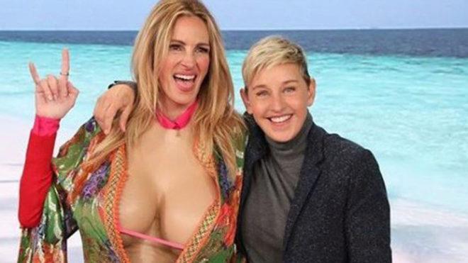 Julia Roberts y Ellen DeGeneres