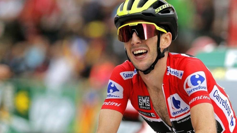 Simon Yates, durante la Vuelta a España 2018.