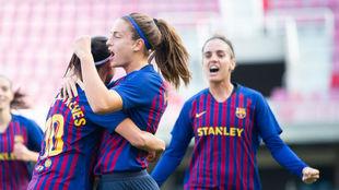 Alexia Putellas celebra un gol esta temporada.