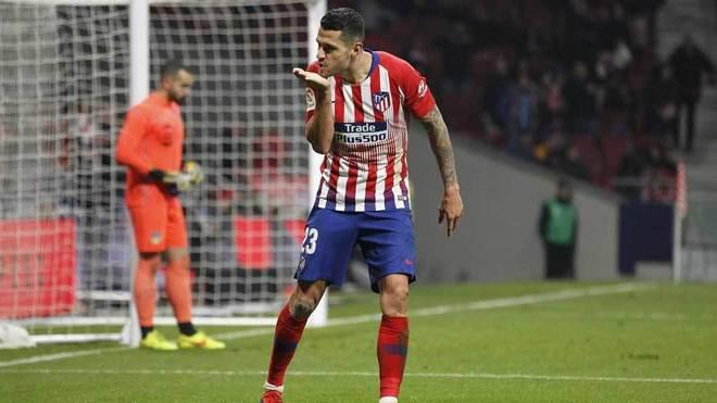 Vitolo celebra el gol que marcó ante el Sant Andreu.