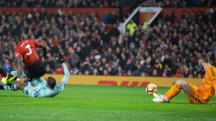 El gol de Aubameyang que puso por delante momentáneamente al Arsenal