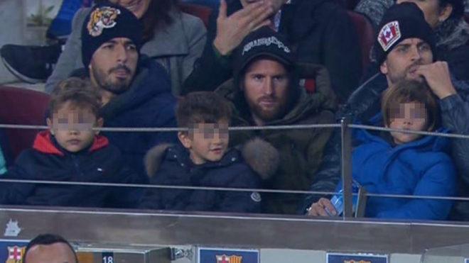 Luis Suarez, Leo Messi and Gerard Pique