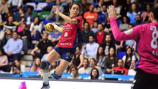 Sara Gil de la Vega durante un partido con el Porriño
