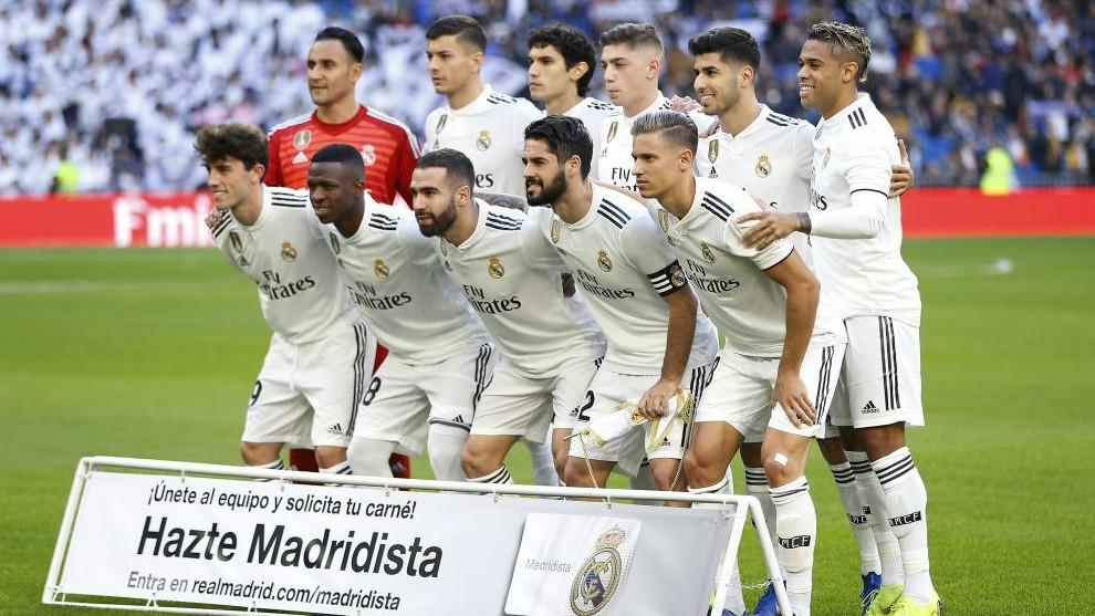 Once del Real Madrid frente al Melilla / Angel Rivero / MARCA