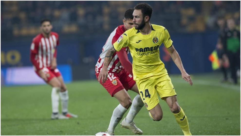 Miguel Layún, en el partido ante el Almería.