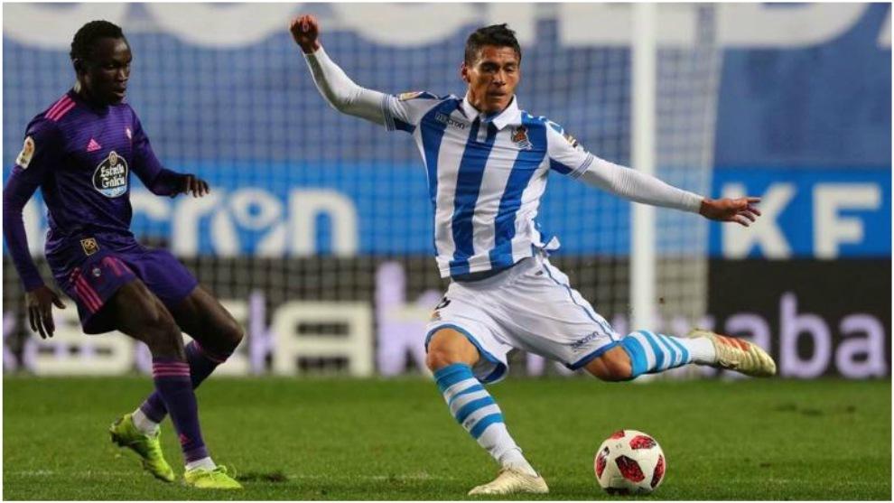 Héctor Moreno, en el partido ante el Celta.