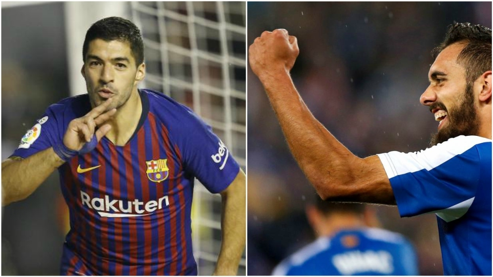 Luis Suarez and Borja Iglesias