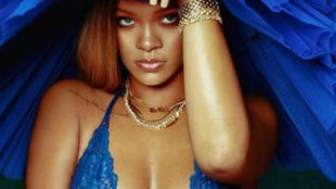 Rihanna poses in sexy lingerie as she promotes her new collection