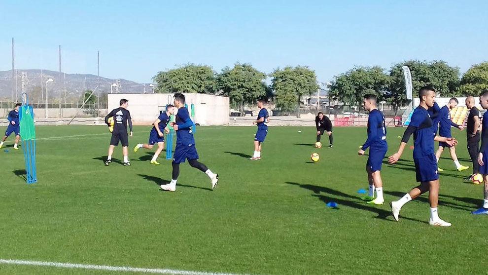 El Celta de Vigo durante un entrenamiento en Oropesa.
