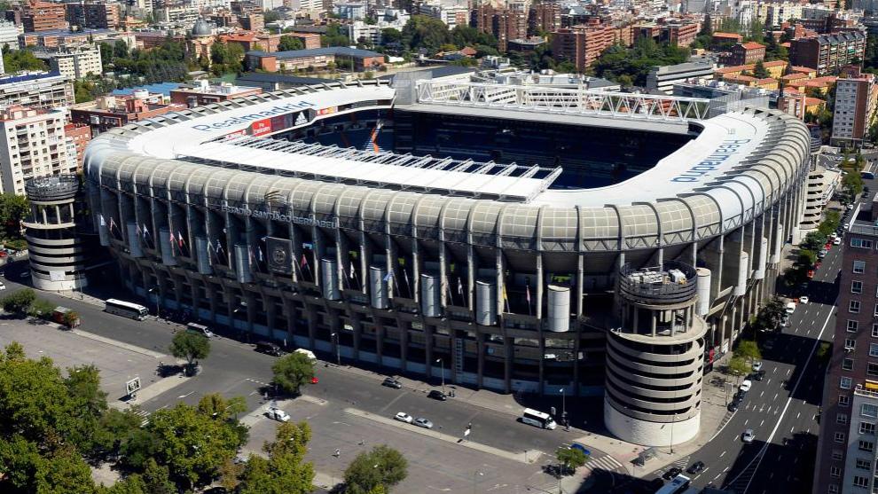 Estadio Santiago Bernabéu de Madrid. Sede del River-Boca, vuelta de...