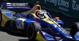 Alexander Rossi, con el Andretti Honda en la Indycar Series, esta...