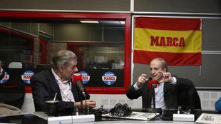 Víctor Hugo Morales y José María García en Radio MARCA.