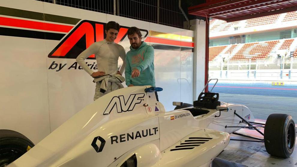 David Vidales y Fernando Alonso