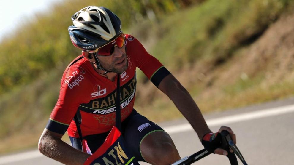 Vincenzo Nibali, durante la 18ª etapa de la Vuelta 2018.