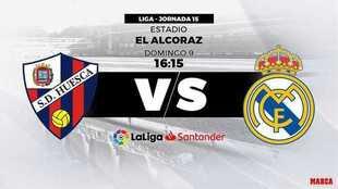 Huesca - Real Madrid: horario y dónde ver hoy en directo por...