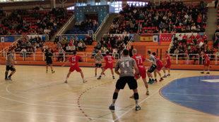 Un momento del partido entre el Alcobendas y el Ciudad Encantada