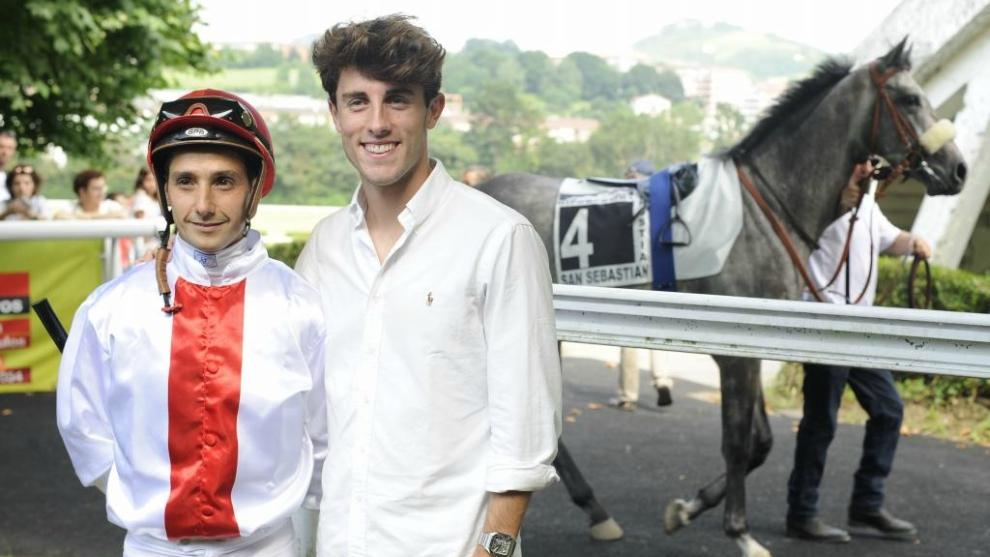 Álvaro Odriozola, en el Hipódromo de San Sebastián el pasado...