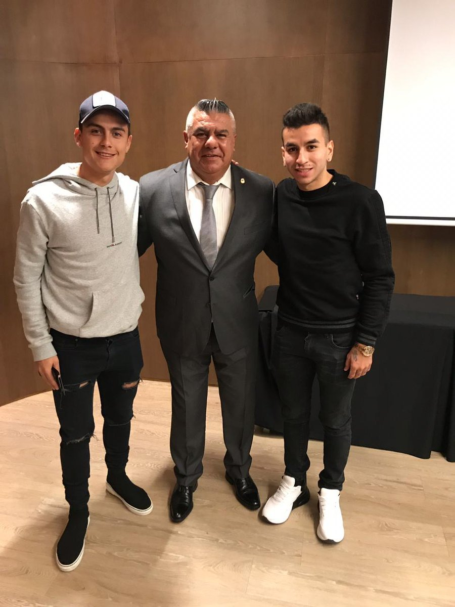 Paulo Dybala, Chiqui Tapia and Angel Correa.