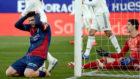 Melero se lamenta tras fallar un gol clarísimo ante Courtois.