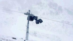 En el momento del accidente no había viajeros en el telecabina...