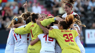 Celebración del pase a semifinales del Mundial el pasado agosto.