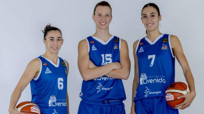 Silvia Domínguez, Laura Gil y Belén Arrojo, ganadoras del bronce...