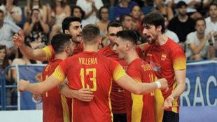 La selección española de voleibol.