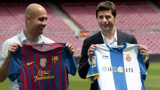 Pep Guardiola and Mauricio Pochettino
